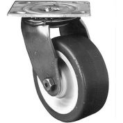 """Darnell-Rose A100 Stainless Swivel Plate Caster 710053 Stainless Steel 6"""" Dia. 1000 Lb. Cap."""