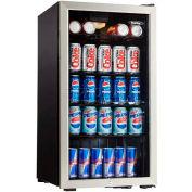 Danby DBC120BLS - Beverage Center, 3.3 Cu. Ft., 120 Can Capacity, Tempered Glass Door, Lock