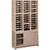 Letter Literature Cabinet Rack, Regal Cherry Laminate Top Medium Gray Finish