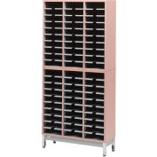Legal Size Literature Rack, Regal Cherry Laminate Top Black Finish