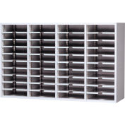 Mail Master Letter Size Sort Module, Regal Cherry Laminate Top Med. Gray Finish