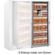 Rotary File Cabinet Adder Unit, Legal, 5 Shelves, Light Gray