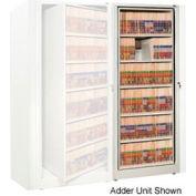 Rotary File Cabinet Adder Unit, Legal, 6 Shelves, Bone White