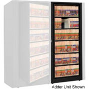 Rotary File Cabinet Adder Unit, Legal, 6 Shelves, Black