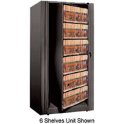 Rotary File Cabinet Starter Unit, Legal, 4 Shelves, Black
