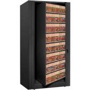 Rotary File Cabinet Starter Unit, Legal, 8 Shelves, Black