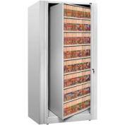 Rotary File Cabinet Starter Unit, Legal, 8 Shelves, Light Gray