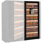 Rotary File Cabinet Adder Unit, Letter, 4 Shelves, Black