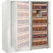 Rotary File Cabinet Adder Unit, Letter, 4 Shelves, Light Gray