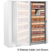 Rotary File Cabinet Adder Unit, Letter, 5 Shelves, Light Gray