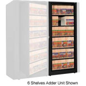 Rotary File Cabinet Adder Unit, Letter, 8 Shelves, Black
