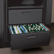 Rotary File Cabinet Components, Letter File/ Storage Drawer, Locking, Black