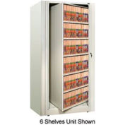 Rotary File Cabinet Starter Unit, Letter, 2 Shelves, Bone White