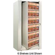 Rotary File Cabinet Starter Unit, Letter, 3 Shelves, Bone White