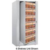 Rotary File Cabinet Starter Unit, Letter, 5 Shelves, Light Gray