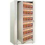 Rotary File Cabinet Starter Unit, Letter, 6 Shelves, Bone White