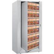 Rotary File Cabinet Starter Unit, Letter, 6 Shelves, Light Gray