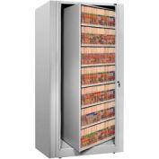 Rotary File Cabinet Starter Unit, Letter, 7 Shelves, Light Gray