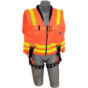 3M™ DBI-SALA® Delta™ Hi-Vis Reflective Work Vest Harness 1107405, Back D-Ring, XL