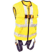 Delta™ Hi-Visibility Yellow Work Vest Harness 1107419, Back D-Ring, Tongue Buckle Legs, S