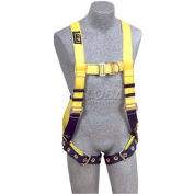 Delta™ Vest Style Harness 1107800, Front & Back D-Ring, Loops For Belt, Tongue Buckle Legs, L