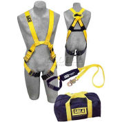 Delta™ Arc Flash Kit 1150058, Arc Flash Nylon Harness &  6' Arc Flash Lanyard Bag