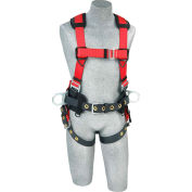 Protecta® PRO™ Construction Style Harness 1191210, Back & Side D-Rings, XL