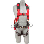 Protecta® PRO™ Construction Style Harness 1191269, Back & Side D-Rings, S