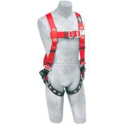 Protecta® PRO™ Climbing Harness 1191274, Back & Front D-Rings, Tongue Buckle Legs, XL