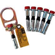 DBI-SALA® 2104561 Concrete D-ring Anchor W/ 5 Extra Bolts, Fixed, 310 Cap Lbs