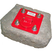 Protecta® AJ720A Concrete Anchor Plate, Fixed, 310 Cap Lbs