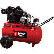 Porter Cable® PXCMPC1682066,1.6HP,Portable Comp.,20 Gal,Horiz.,135 PSI,5.3 CFM,1-Phase 120/240V