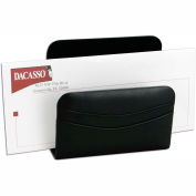 DACASSO® Classic Black Leather Letter Holder