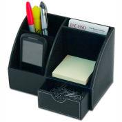 DACASSO® Classic Black Leather Desktop Organizer