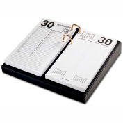 "DACASSO® Black Leather 4.5"" x 8"" Calendar Holder with Gold Accents"