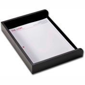 DACASSO® Classic Black Leather Side Load Letter Tray