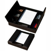 DACASSO® Classic Black Leather Enhanced Conference Room Organizer