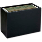 DACASSO® Classic Black Leather Hanging File Folder Box