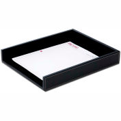 DACASSO® Rustic Black Leather Letter Tray