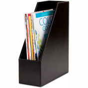 DACASSO® Econo-Line Black Leather Magazine Rack