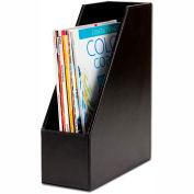 DACASSO® Econo-Line Black Leather Magazine Rack