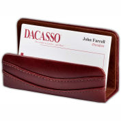 DACASSO® Mocha Leather Business Card Holder