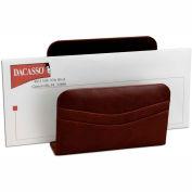 DACASSO® Mocha Leather Letter Holder