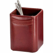 DACASSO® Mocha Leather Pencil Cup