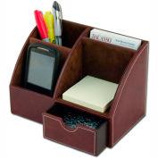 DACASSO® Mocha Leather Desktop Organizer