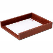DACASSO® Rustic Brown Leather Letter Tray