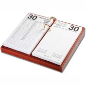 "DACASSO® Rustic Brown Leather 4.5"" x 8"" Calendar Holder"
