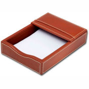 """DACASSO® Rustic Brown Leather 4"""" x 6"""" Memo Holder"""