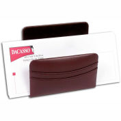 DACASSO® Chocolate Brown Leather Letter Holder