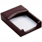 DACASSO® Chocolate Brown Leather 4 x 6 Memo Holder